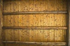 Houten plafond. Stock Foto