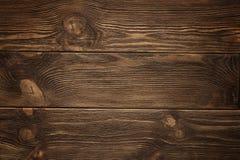 Houten plank, donkere bruine raad, uitstekende achtergrond Royalty-vrije Stock Foto