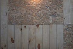 Houten plank en triplex binnenlandse muur dit beeld voor textuur royalty-vrije stock foto