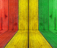 Houten plank met reggaeachtergrond Stock Foto's