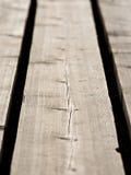 Houten plank met splinters en barsten Royalty-vrije Stock Fotografie