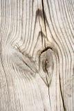 Houten plank met splinters en barsten Stock Foto