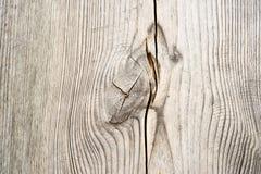 Houten plank met splinters en barsten Stock Afbeeldingen