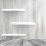 Houten plank op houten achtergrond. + EPS10 Royalty-vrije Stock Foto