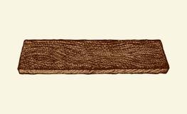 Houten plank Vector tekening Stock Afbeelding