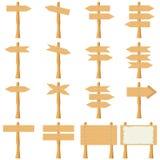 Houten plank-wijzers Stock Fotografie