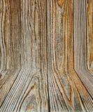 Houten plankdecoratie Stock Foto's