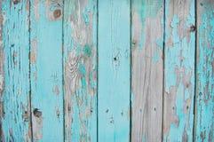 Houten planken blauwe sereniteit Stock Fotografie