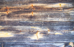 Houten planken met knopen en ringen Royalty-vrije Stock Foto's