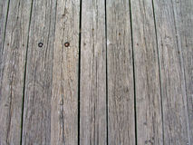 Houten planken in pijler Stock Afbeeldingen