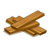 Houten plankenillustratie Royalty-vrije Stock Foto's
