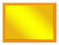 Houten Plaque met het Bijvoegsel van het Brons Stock Afbeelding