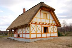 Houten plattelandshuisje Royalty-vrije Stock Fotografie
