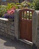 Houten poort Royalty-vrije Stock Foto's