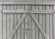 Houten poort stock afbeelding