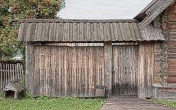 Houten poort, Stock Foto's