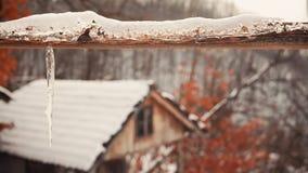 Houten Poort onder Sneeuw Royalty-vrije Stock Afbeelding