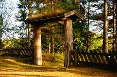 Houten poort Telemark, Noorwegen Stock Fotografie
