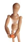 houten pop of ledenpopmens van Ikea-gestalta Stock Afbeelding