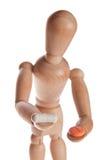 houten pop of ledenpopmens van Ikea-gestalta Stock Foto