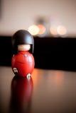 Houten pop met kaarsen Stock Fotografie