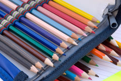 Houten potloden Stock Foto