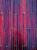 Houten raad op boot Stock Foto's