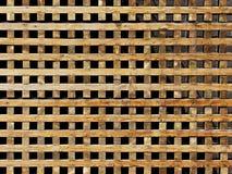 Houten roostermuur Royalty-vrije Stock Afbeelding