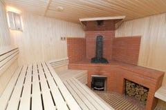 Houten sauna Stock Foto