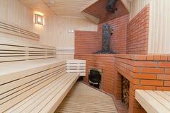 Houten sauna Royalty-vrije Stock Afbeelding