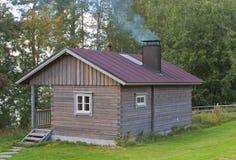 Houten sauna Royalty-vrije Stock Foto