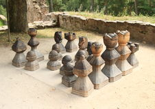 Houten schaak stock afbeelding