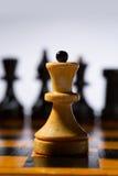 Houten schaakbord Royalty-vrije Stock Foto