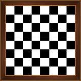 Houten schaakbord stock illustratie