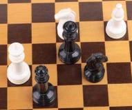 Houten schaakbord met cijfers Stock Fotografie