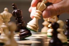 Houten schaakstukken Stock Foto