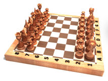 Houten schaakstukken Stock Fotografie