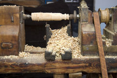 Houten scherpe machines stock foto