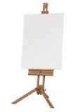 Houten schildersezel met leeg canvas Stock Afbeelding