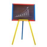 Houten schildersezel op een witte achtergrond Royalty-vrije Stock Foto