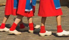 Houten schoenen Stock Afbeeldingen