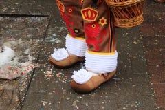 Houten schoenen; Royalty-vrije Stock Afbeelding