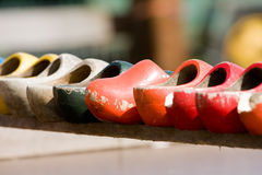 Houten schoenen Stock Foto's