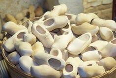 Houten schoenen royalty-vrije stock foto