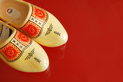Houten schoenen Royalty-vrije Stock Foto's