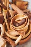 houten schotel Royalty-vrije Stock Afbeeldingen