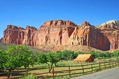 Houten schuur in de Ertsader NP, Utah van het Capitool Stock Foto