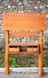 Houten Scoreraad Petanque bij Petanque-hof Royalty-vrije Stock Fotografie