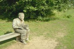 Houten sculpture Royalty-vrije Stock Foto