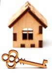 Houten sleutel Royalty-vrije Stock Afbeeldingen